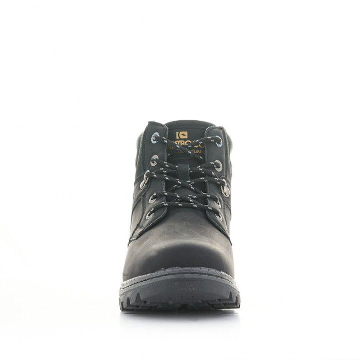 Botines Nicoboco negros con detalles grises - Querol online