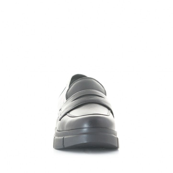Zapatos planos Redlove diana negros de piel con suela track - Querol online