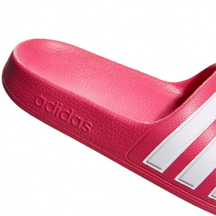 Chanclas Adidas rosas con pala de tres rayas - Querol online