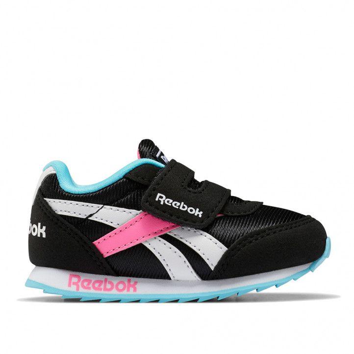 Sabatilles esport Reebok negres amb detalls en rosa blau i blanc royal - Querol online