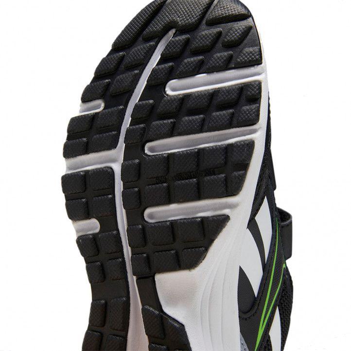Zapatillas deporte Reebok negras con detalles en blanco y verde - Querol online