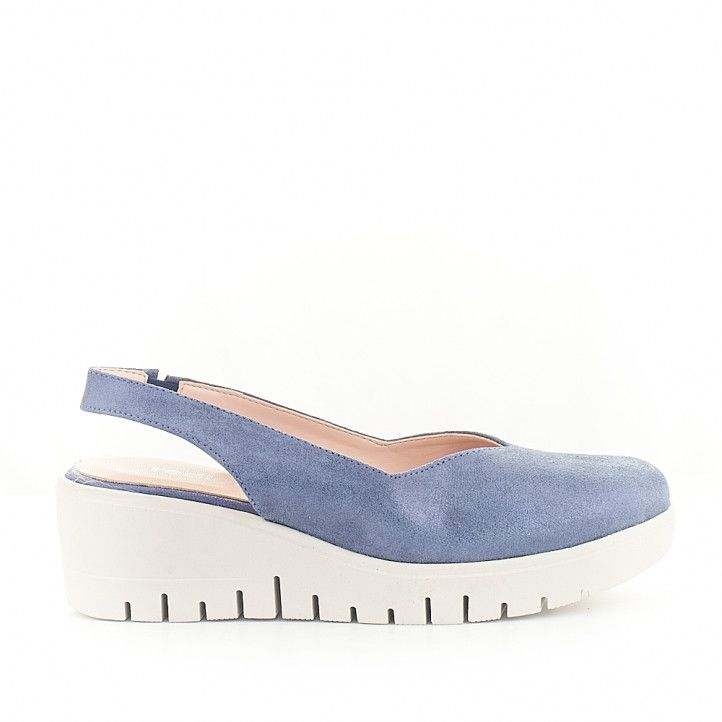 Zapatos cuña Redlove angela con tira posterior - Querol online