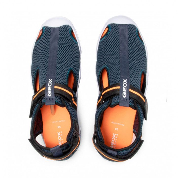 xancletes Geox blaus amb interior taronja - Querol online