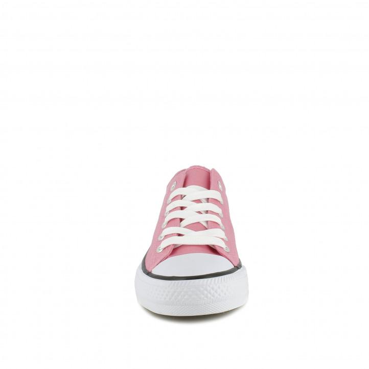 Zapatillas lona Owel rosas bajas con cordones - Querol online