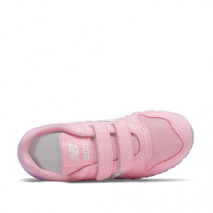 Zapatillas deporte New Balance 500 rosas con detalles lilas - Querol online