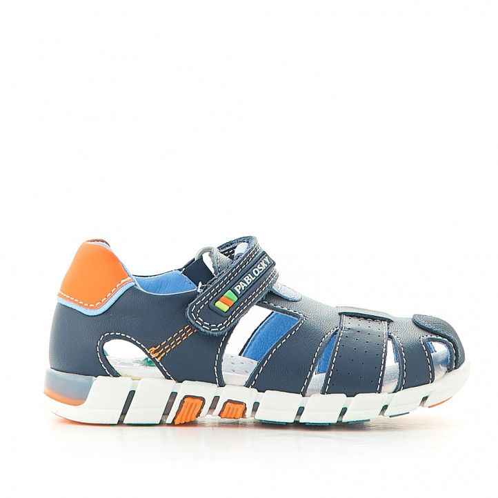 sandàlies Pablosky tancades blaves i taronges - Querol online