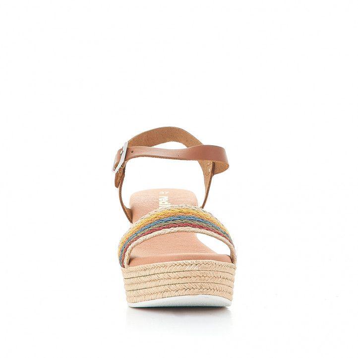 Sandàlies falca Redlove ona de cordes multicolor - Querol online
