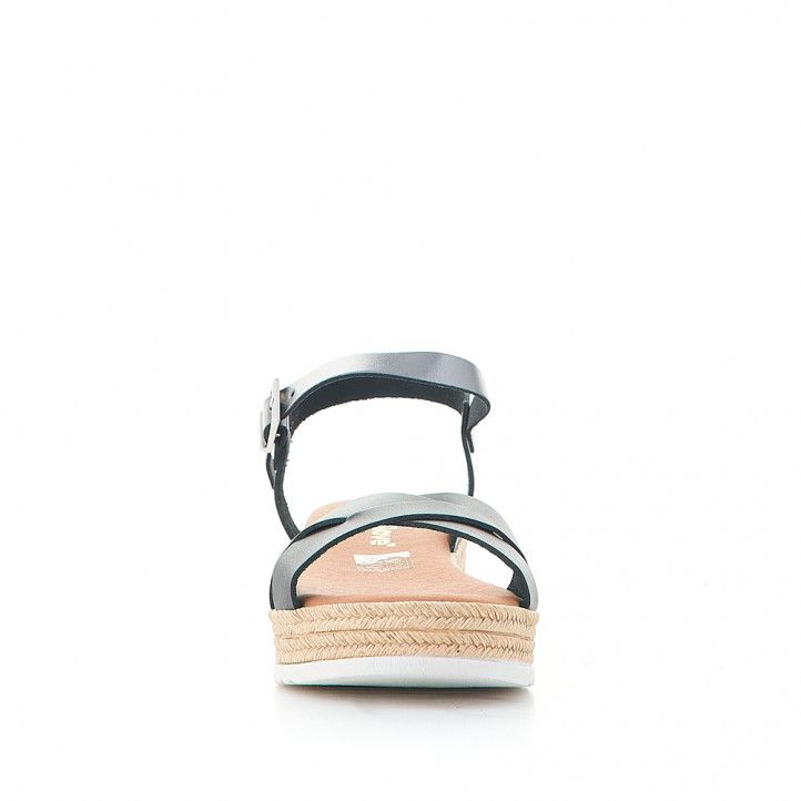 Sandàlies plataformes Redlove maria negres amb tires creuades - Querol online