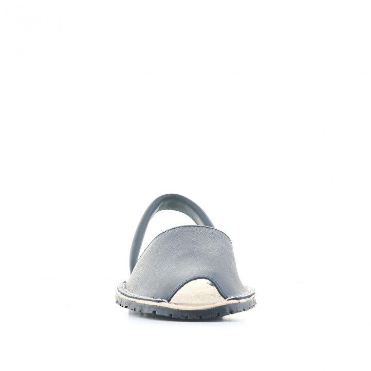 Abarcas Duendy de piel azules con suela negra - Querol online