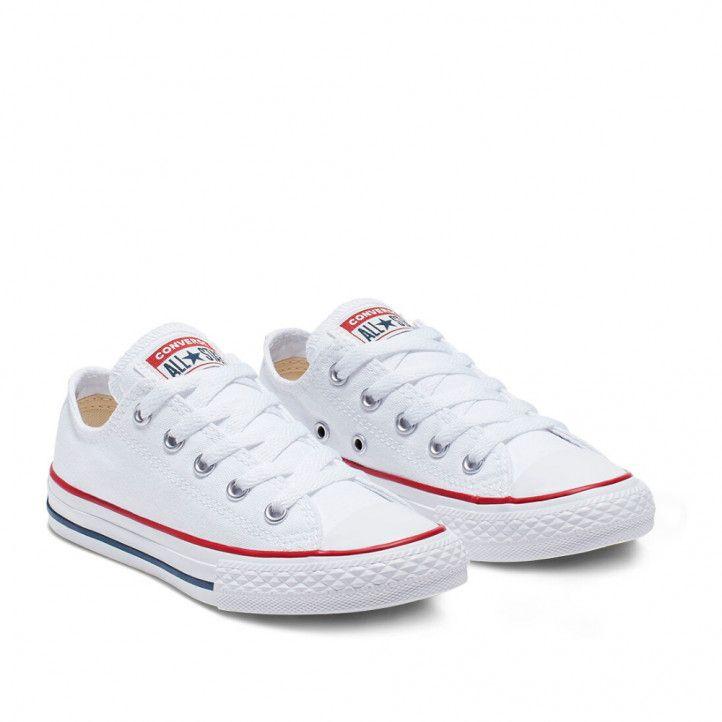 Zapatillas lona Converse blancas all star bajas - Querol online