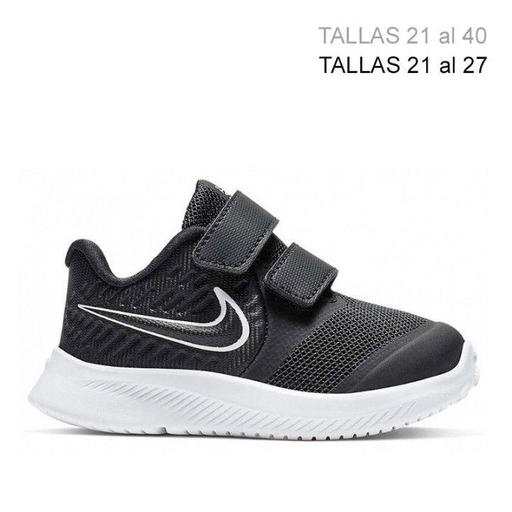 Sabatilles esport Nike negres amb detalls blancs star runner - Querol online
