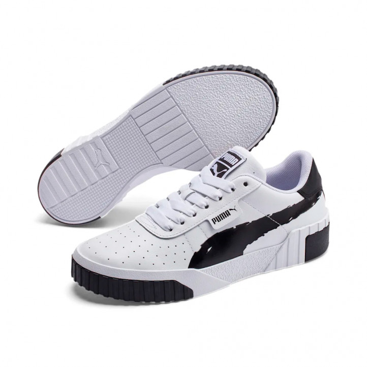 Zapatillas deportivas PUMA MODA blancas con detalles en negro, con suela progresiva - Querol online