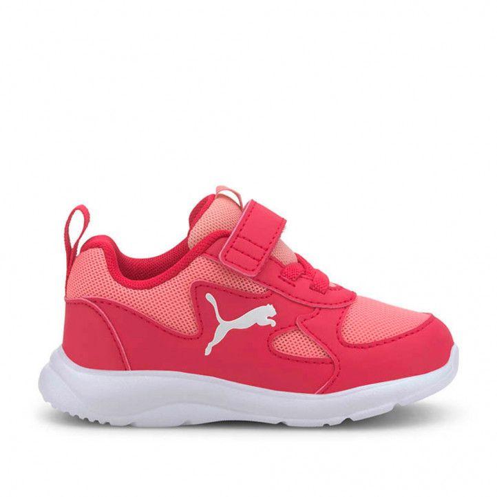 Zapatillas deporte Puma rosas fun recer con elásticos y velcro - Querol online
