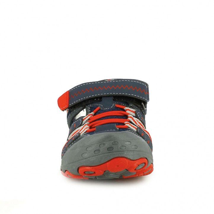 sandalias QUETS! azul marino y rojas sport - Querol online