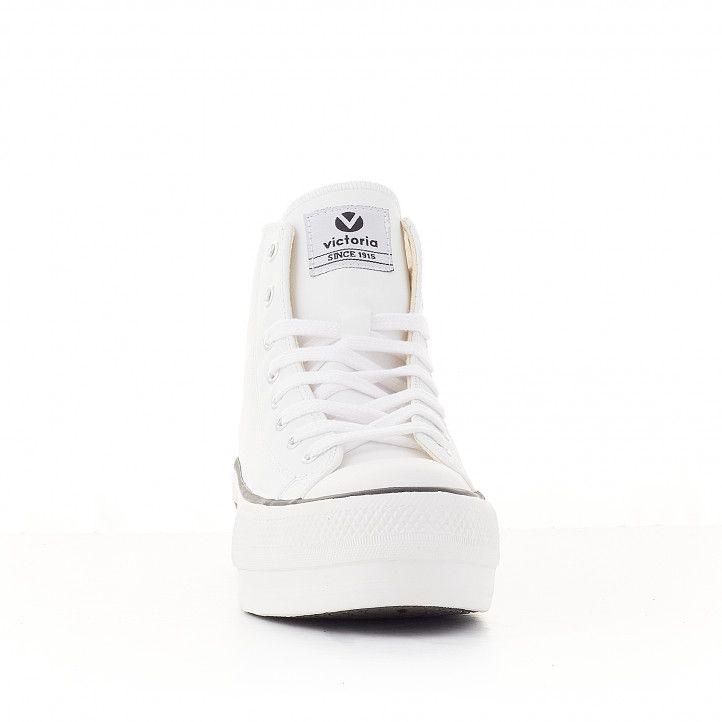 Zapatillas lona Victoria tribu blanco doble botín vegano - Querol online