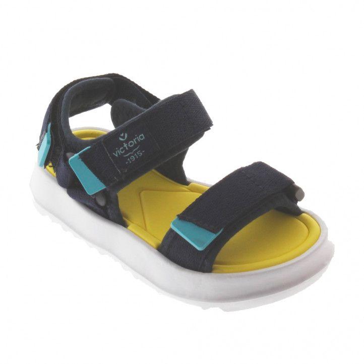 sandalias Victoria azules y amarillas - Querol online