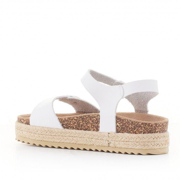 sandàlies QUETS! blanques amb plataforma agafades al turmell - Querol online