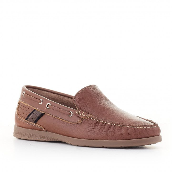 Zapatos vestir Lobo pezzo marrón - Querol online