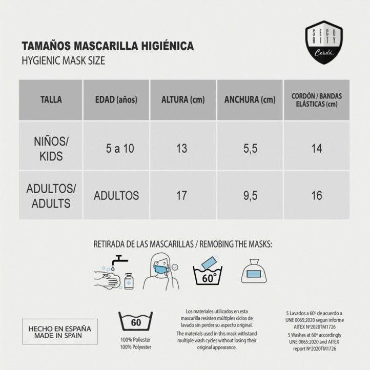 Mascarillas Cerda higiénica reutilizable homologada spiderman - Querol online
