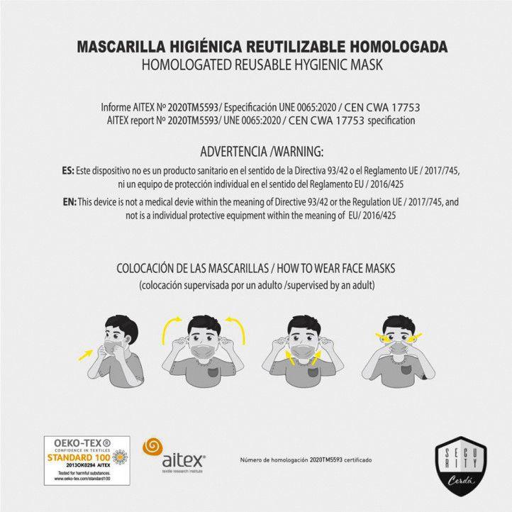 Mascaretes Cerda higiènica juvenil reutilitzable homologada minnie - Querol online