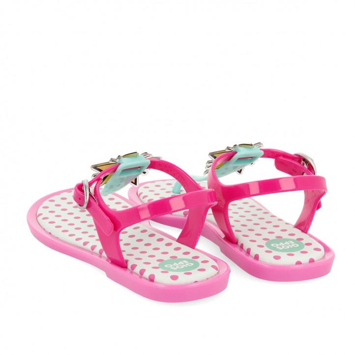Chanclas Gioseppo rosas y verdes con estrella - Querol online