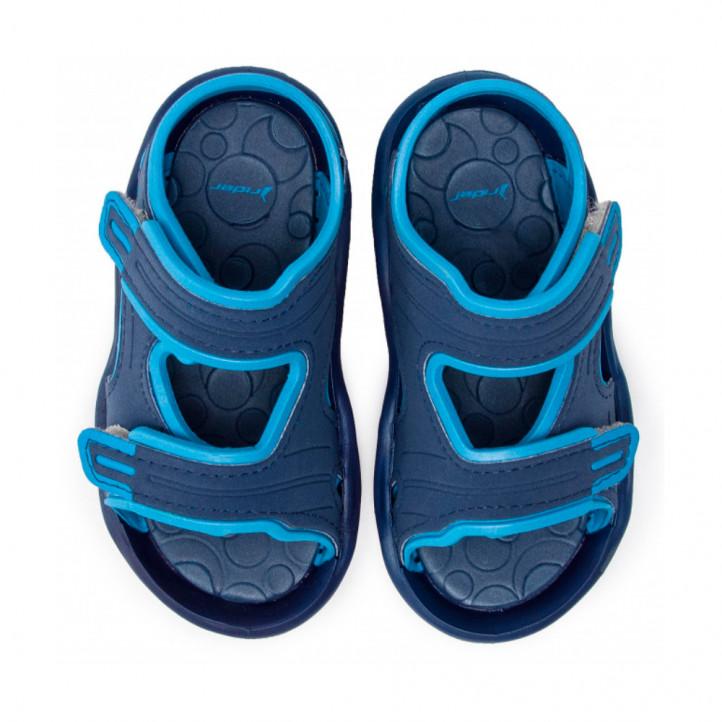 chanclas Rider azules con doble velcro - Querol online