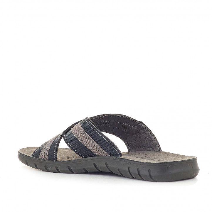 Sandalias In Blu de tiras cruzadas - Querol online