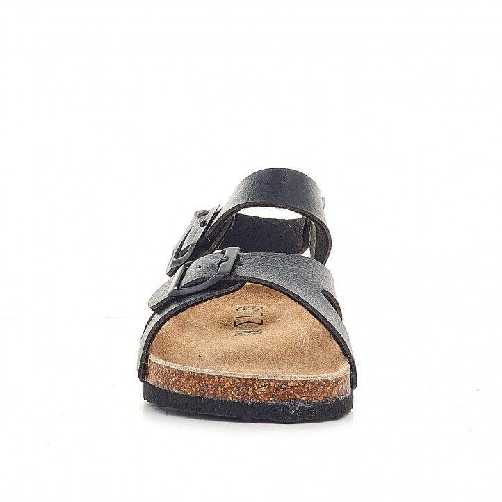 sandàlies Owel negres agafades al turmell i doble sivella - Querol online