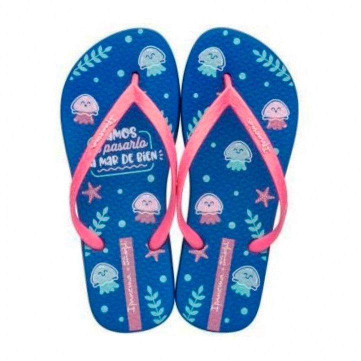 Xancles Ipanema blaves amb dissenys marins - Querol online