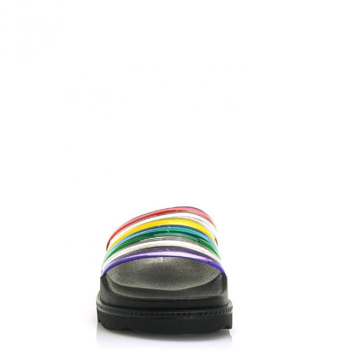Xancles SixtySeven 67 negres de plataforma amb tires multicolor - Querol online