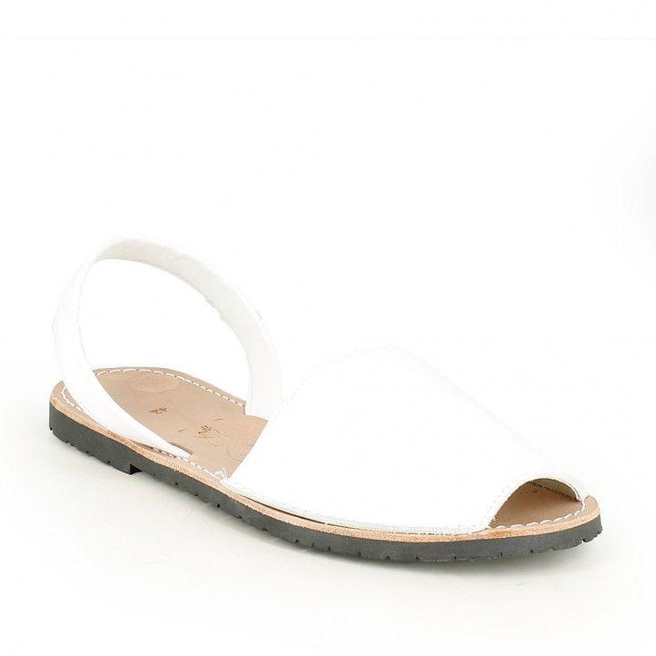 Abarcas Rotger blancas de piel para mujer - Querol online
