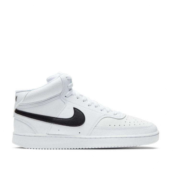 Sabatilles esportives Nike cd5466 101 court vision mid white-black - Querol online