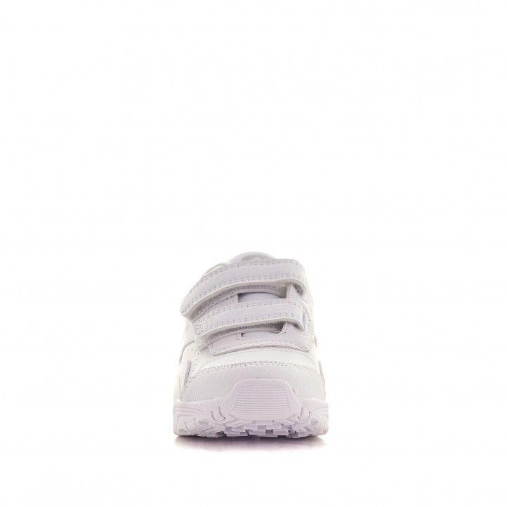 Zapatillas deporte John Smith blancas con doble velcro - Querol online
