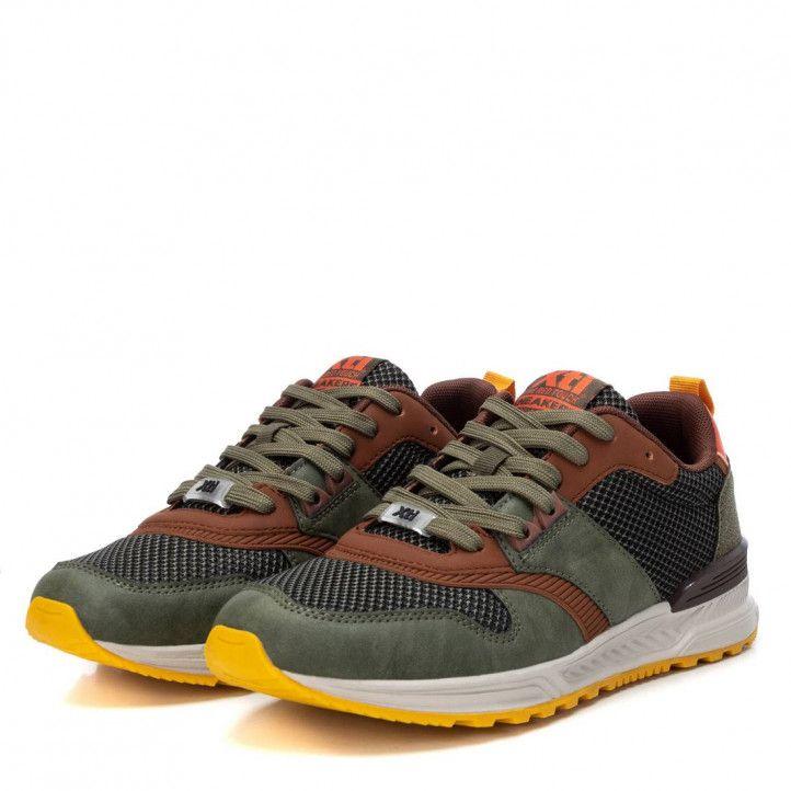 Zapatos sport Xti 043258 con detalles naranjas - Querol online
