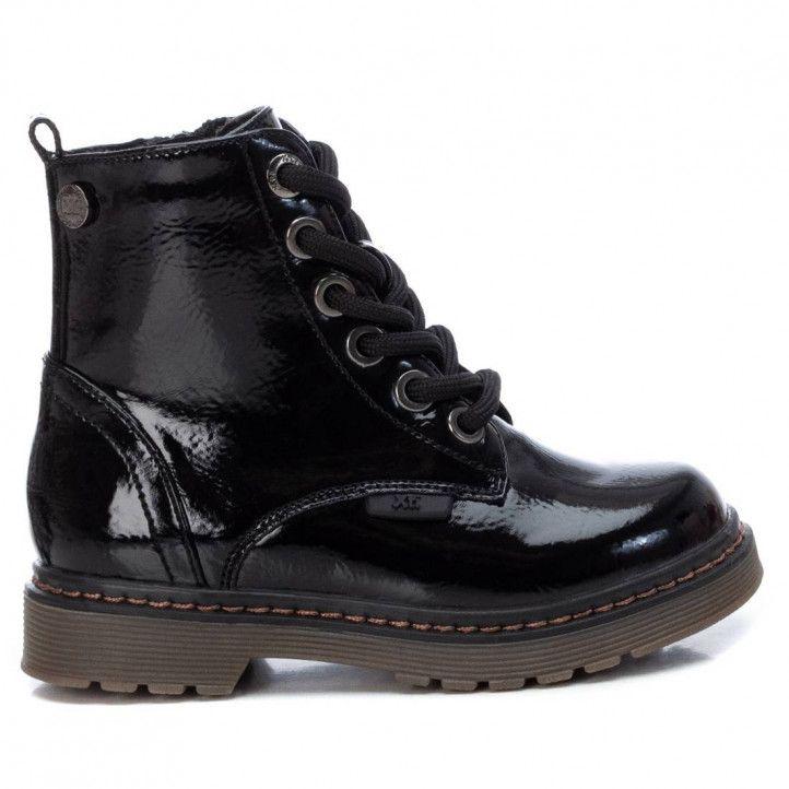 Botines Xti 057804 de charol negro y estilo militar - Querol online