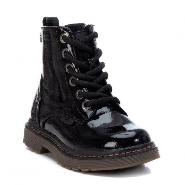 Botins Xti 057804 de xarol negre i estil militar - Querol online