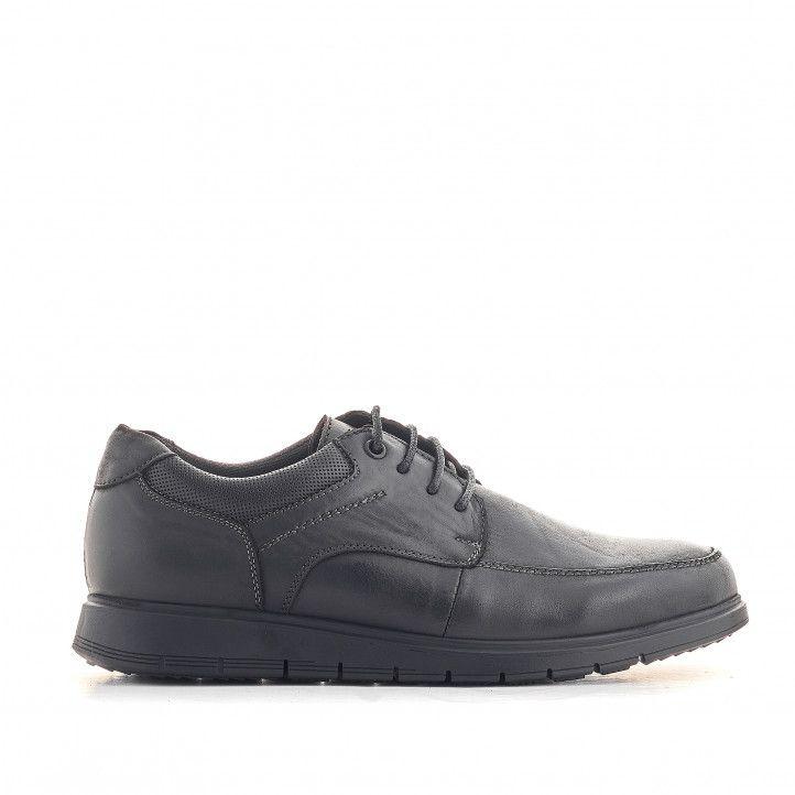 Zapatos vestir Vicmart negros con cordones encerados - Querol online