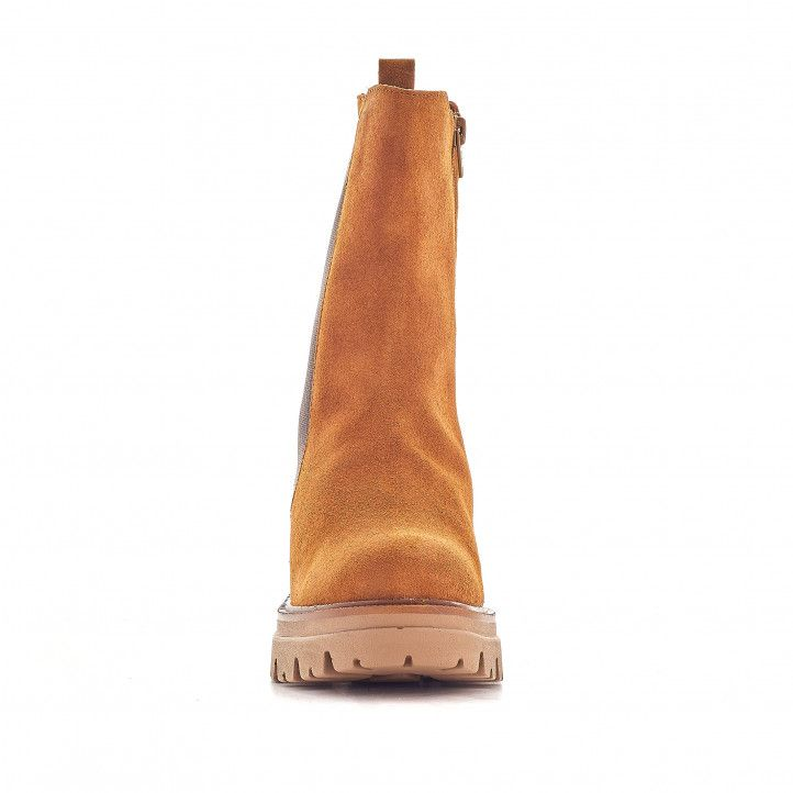 Botins de taló Redlove viveka marrons amb serratge i elàstic - Querol online