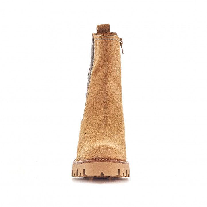 Botins de taló Redlove ernestine marrons amb taló bicolor - Querol online