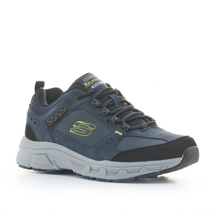 Zapatillas deportivas Skechers azules relaxed fit oak canyon con memory foam - Querol online