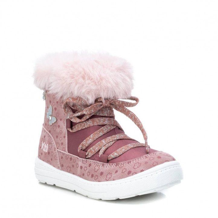 Botines Xti 057807 con pelo y mariposas en rosa - Querol online