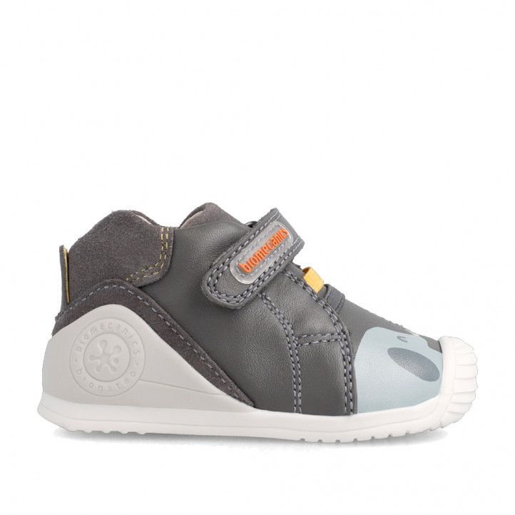 Zapatos abotinados Biomecanics grises con elefantes y globos - Querol online