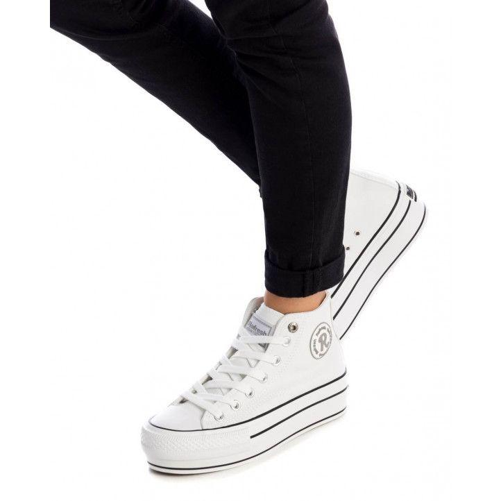 Zapatillas Refresh 076548 efecto piel con plataforma en banco - Querol online
