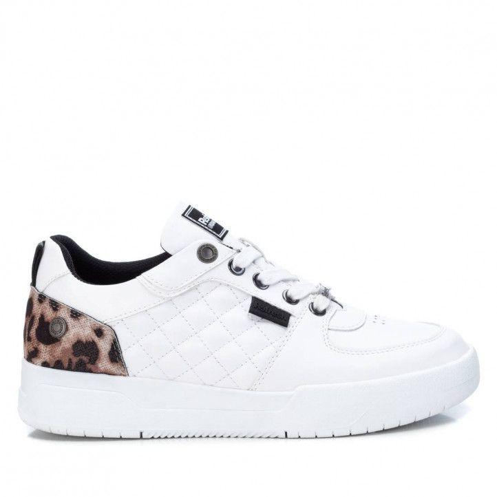 Zapatillas Refresh 077789 talón de animal print en blanco - Querol online
