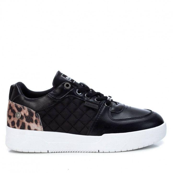 Zapatillas Refresh 077789 talón de animal print en negro - Querol online