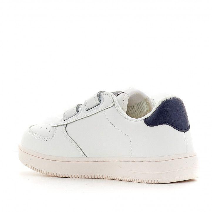 Zapatillas deporte Victoria con doble velcro y logo en cuero - Querol online