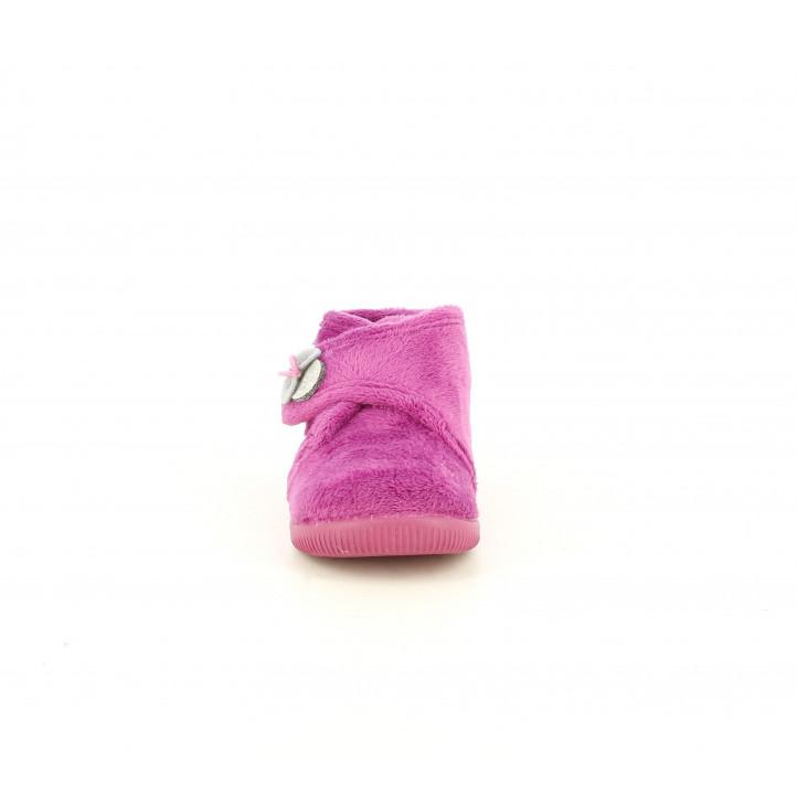 Zapatillas casa Vul·ladi rosas con velcro y dibujos de ratita - Querol online