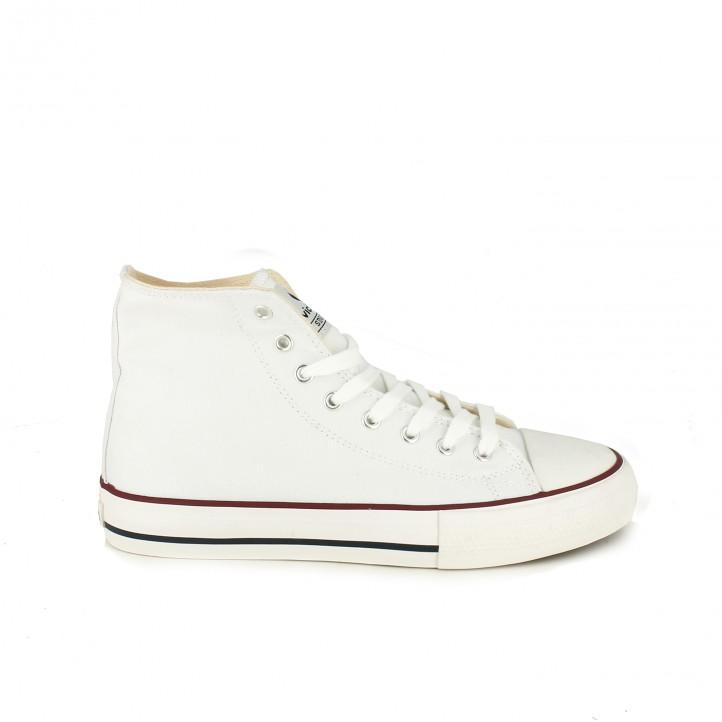 zapatillas lona VICTORIA botas blancas - Querol online