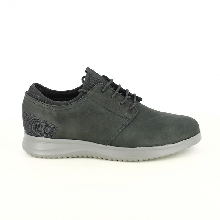 zapatos sport LOBO negros con plantilla acolchada - Querol online