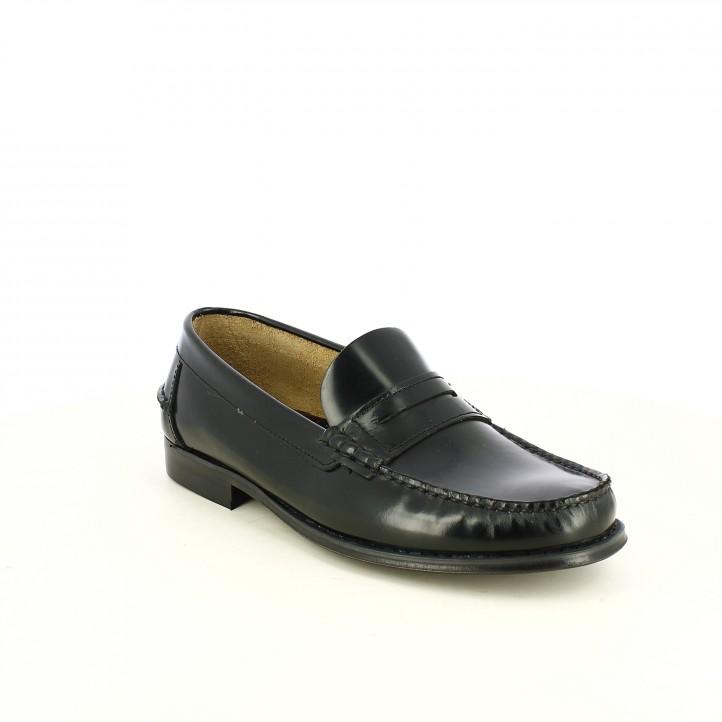zapatos vestir BE COOL mocasines negros - Querol online